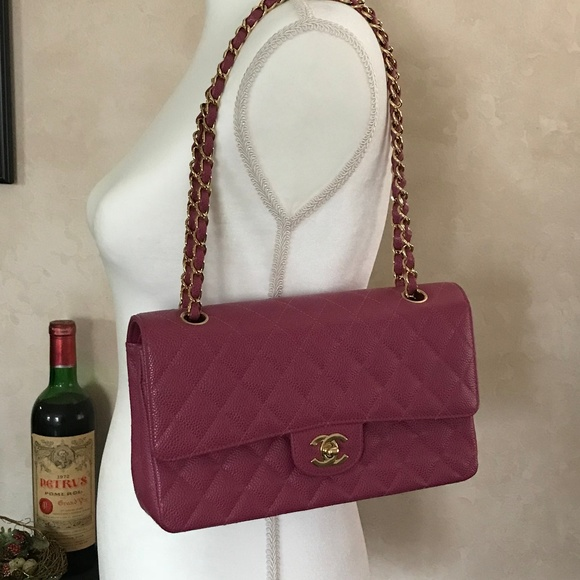 c977ce73 Authentic CHANEL Quilted Rose Classic Flap Bag